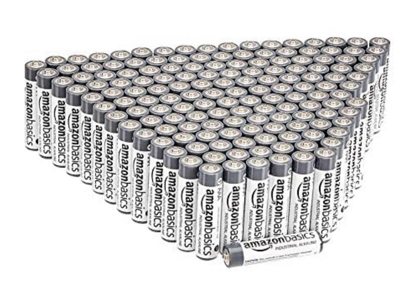 Amazon Basics - Pilas alcalinas AAA de uso industrial (150 unidades)