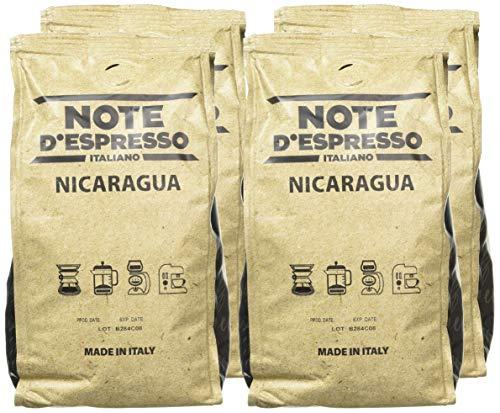 Note d'Espresso Italiano 1 Kg Café de origen molido de Nicaragua, 250 g (caja con 4 paquetes blandos)