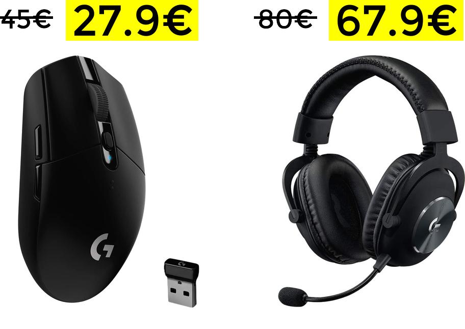 Logitech G305 27.9€// Logitech G PRO 67.9€