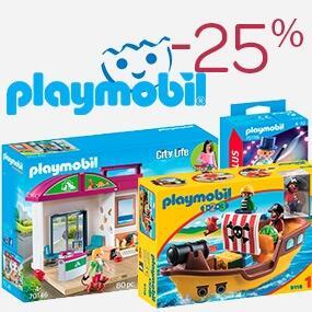 -25% en todo Playmobil y Lego