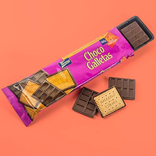 Tirma Chocogalletas con Leche, Chocolate, 160 Gramos