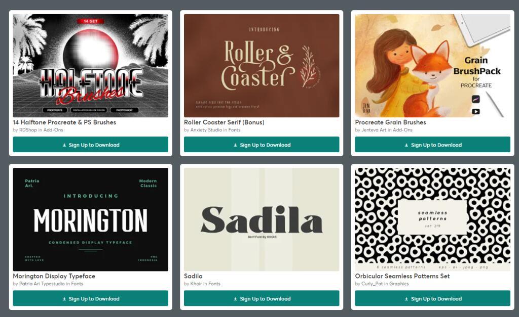 6 paquetes gratis para Creativos
