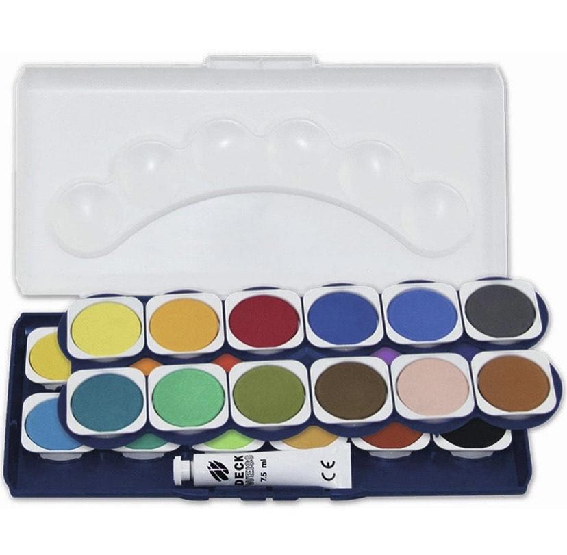Caja de pintura escolar Stylex, 24 colores