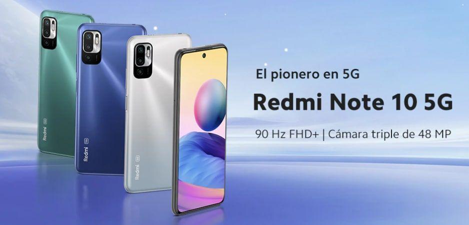 Xiaomi Redmi Note 10 5G NFC 4/64GB y 4/128GB