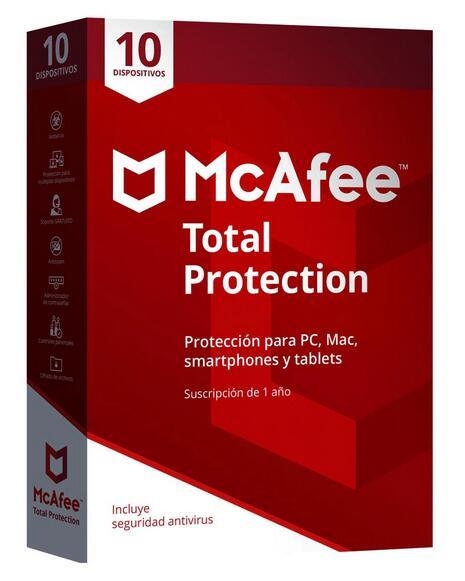 McAfee Total Protection 10 dispositivos / 1 año suscripción