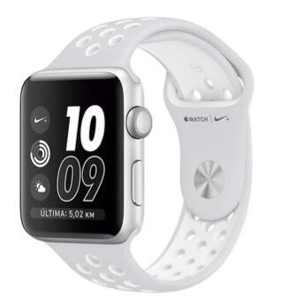 Apple Watch Nike Plus caja de 42 mm caja de aluminio en gris espacial y correa Nike sport platino puro/blanca (Reacondicionado)