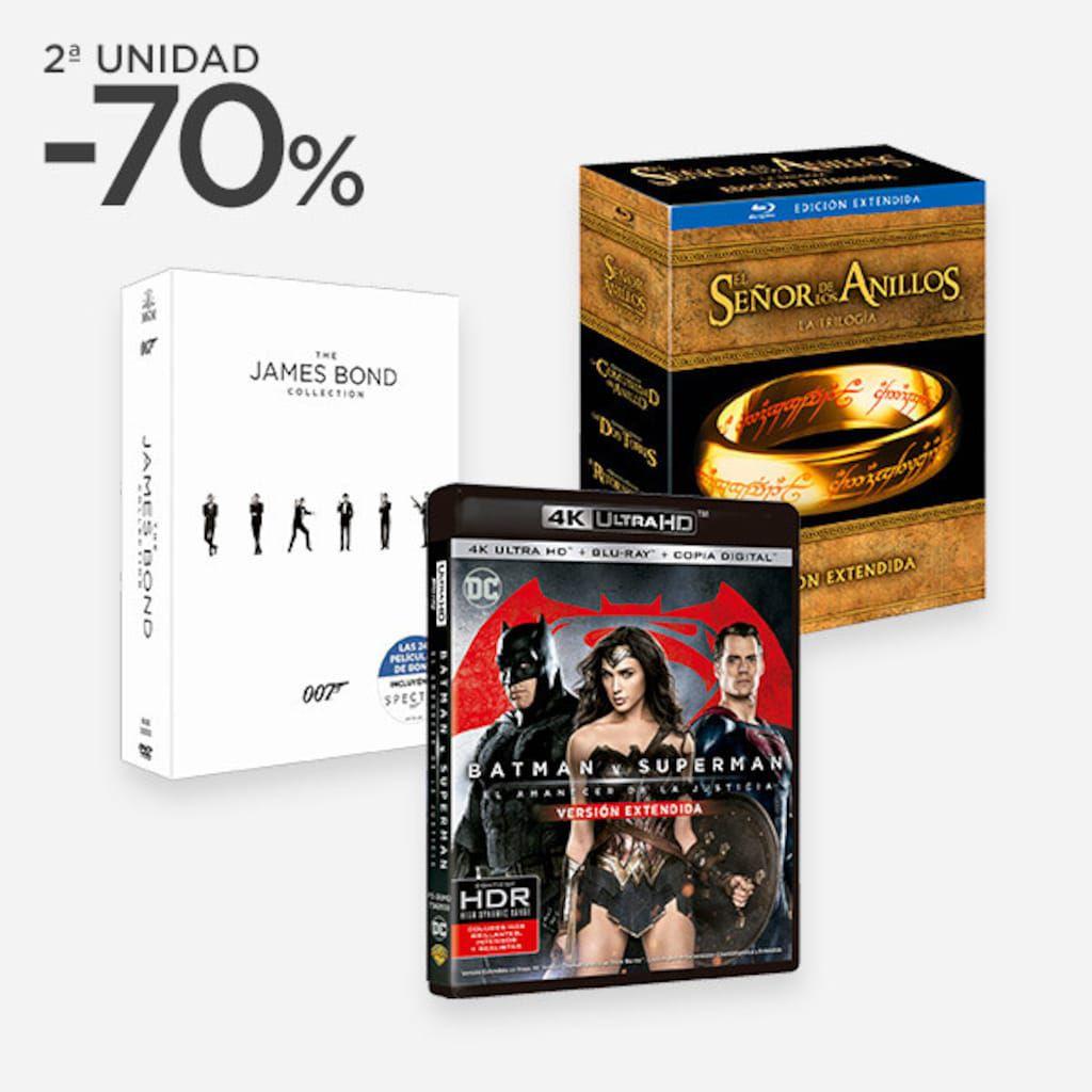 2a unidad al 70% en Blu-ray, DVD y 4K
