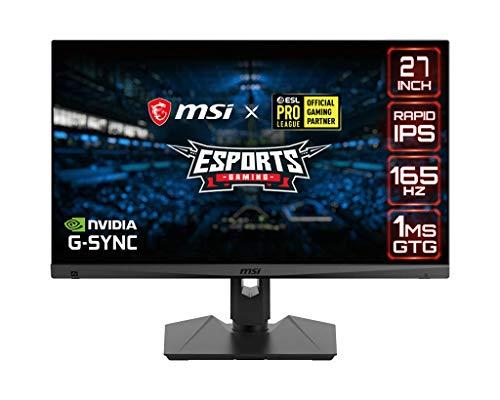 "MSI Optix MAG274QRF Monitor gaming de 27"" LED WQHD 165Hz (2560 x 1440p, ratio 16:9, Panel IPS, 1 ms respuesta, brillo 300 nits, Anti-glare)"