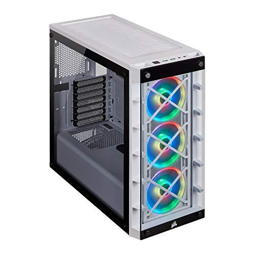 Corsair iCUE 465X RGB Cristal Templado USB 3.0 Blanco