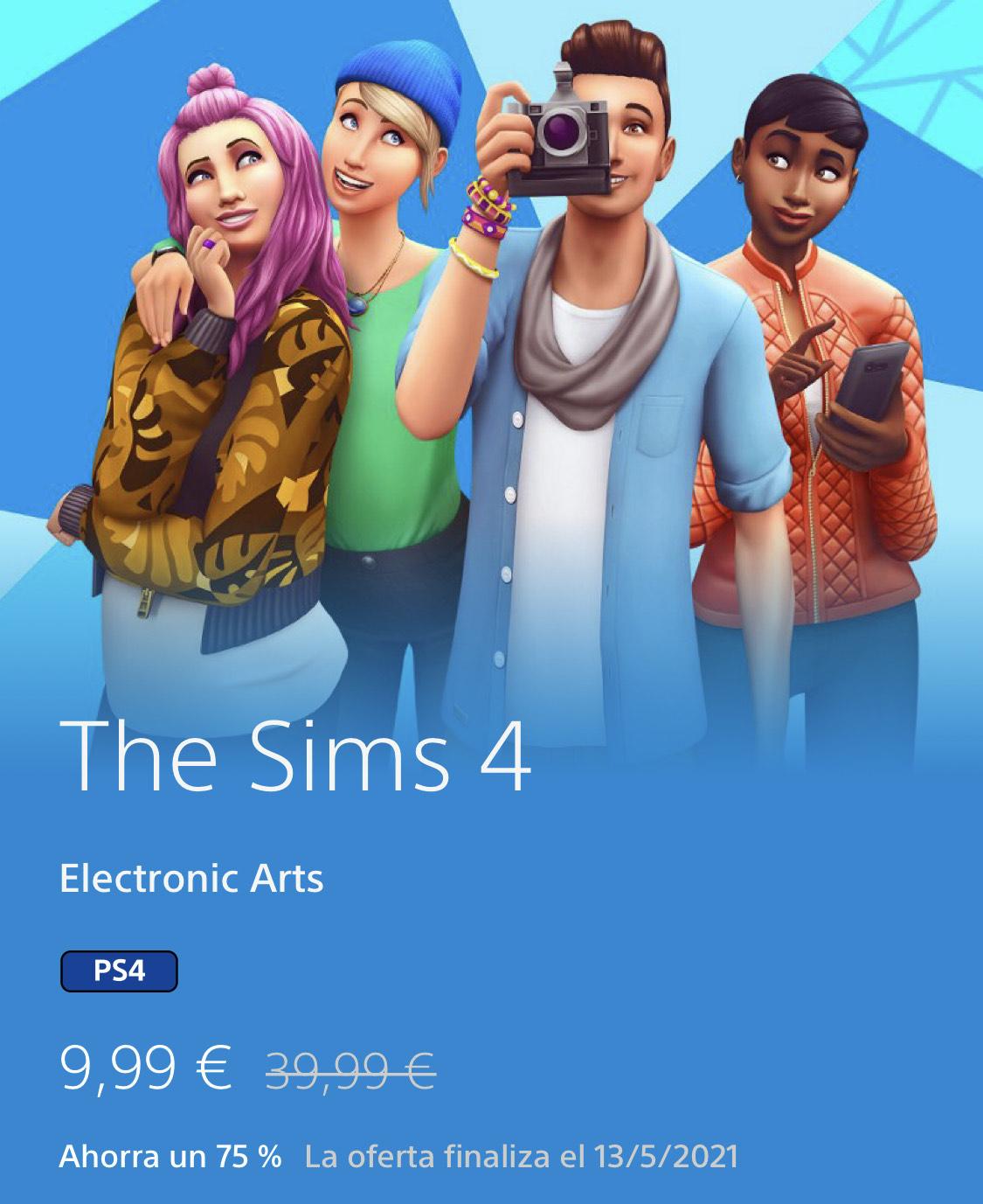 SIMS 4 PS4 POR 9,99€
