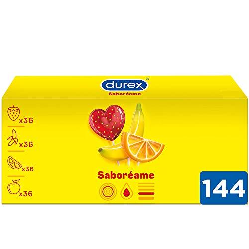 Pack de 144 preservativos Durex Saboreame con Sabores Afrutados (y lubricante Satisfyer)