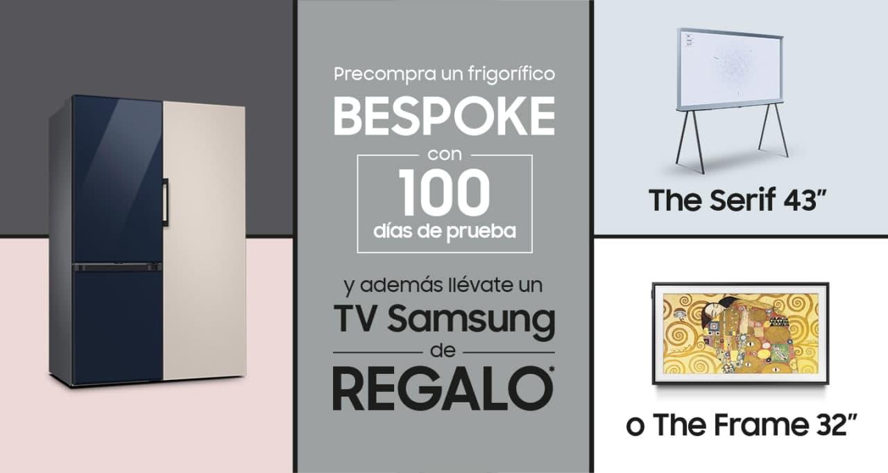 Precompra tu frigorífico BESPOKE y llévate una TV Samsung de REGALO