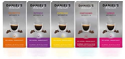 Daniels Blend Pack 10x Cápsulas Café compatible Máquinas Nespresso Envío Gratis (5 variedades)