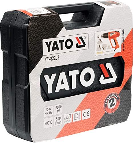 Pistola de aire caliente YATO YT-82293 LCD