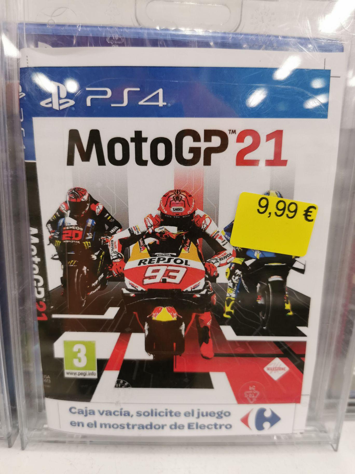 MotoGP 21 PS4 Visto en Carrefour de Cullera (Valencia)