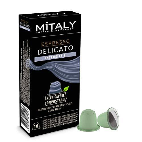 Mitaly - Cápsulas Compostables - Caja De 100 Cápsulas