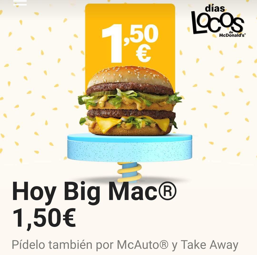 Big Mac a 1,50€