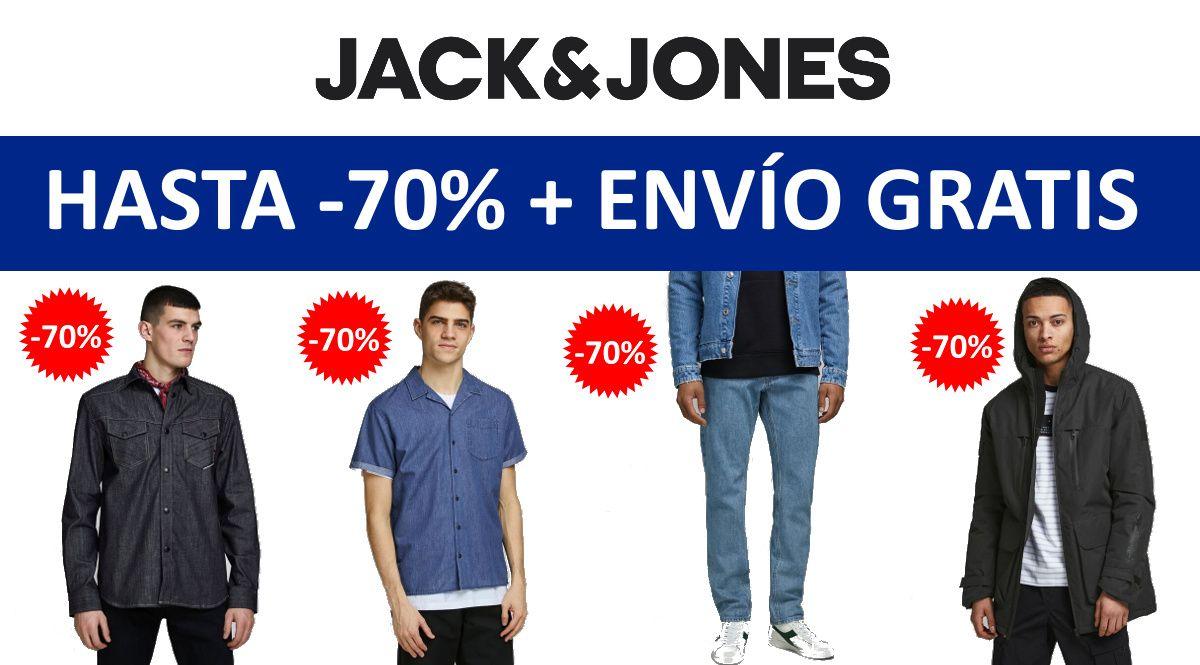 Hasta 70% de descuento + envío gratis en Jack & Jones sin mínimo de compra
