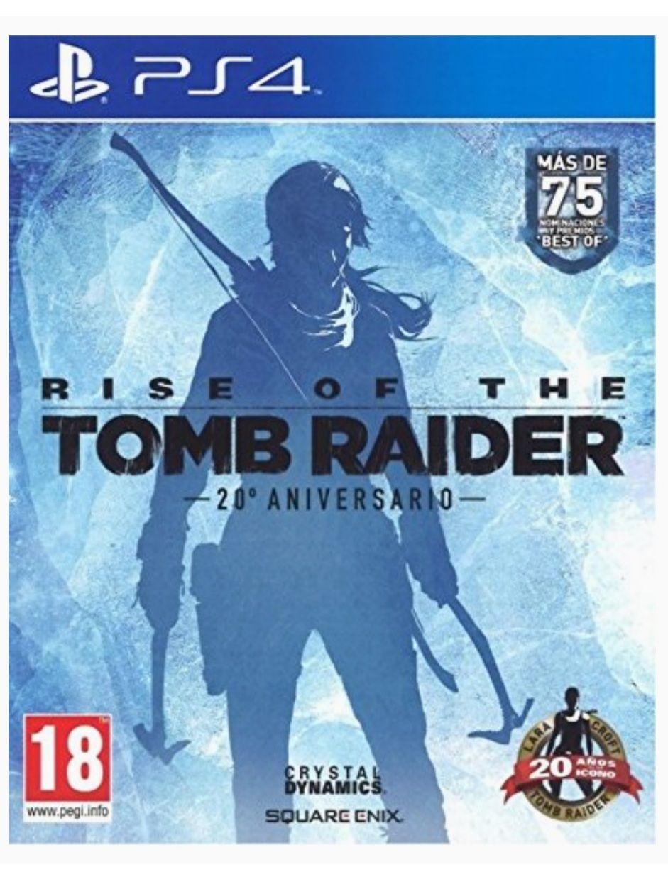 Rise Of The Tomb Rider 20 Aniversario - PS4 (Mediamarkt y Amazon)