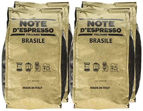 Note d'Espresso Italiano 1 Kg Café en grano Brasil , 250 g caja con 4 paquetes