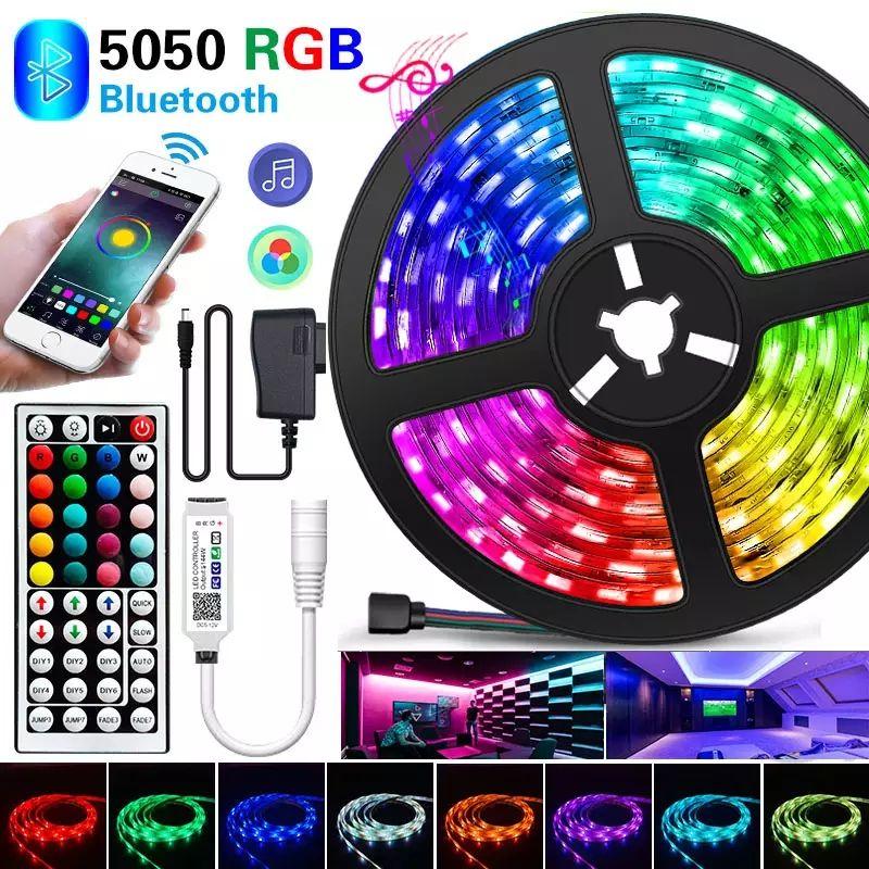 Tira de luces Led de 5M, cinta Flexible con Bluetooth, RGB, SMD 5050