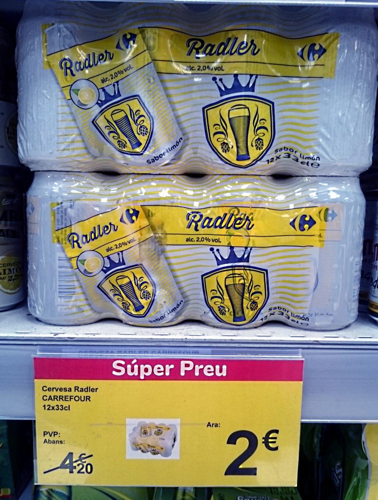 Pack 12 Cerveza Radler Carrefour