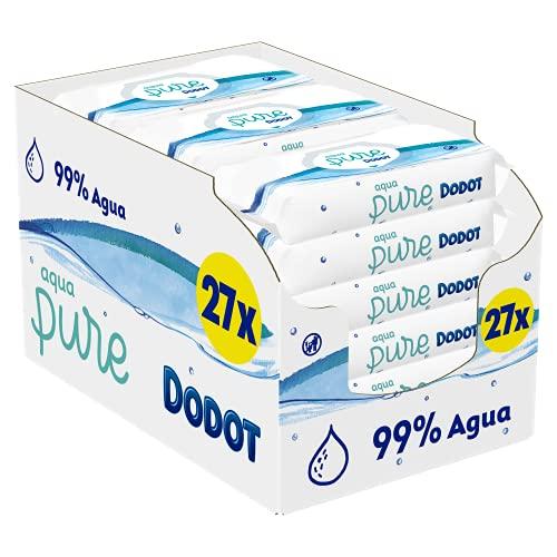 Dodot - Toallitas Aqua Pure para Bebé, 27 paquetes de 48 toallitas cada uno