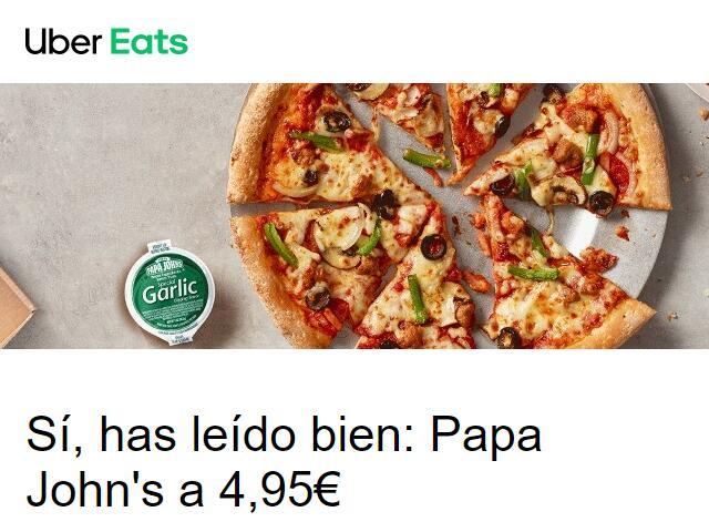 Pizzas medianas Papa John´s a 4.95 - Uber Eats