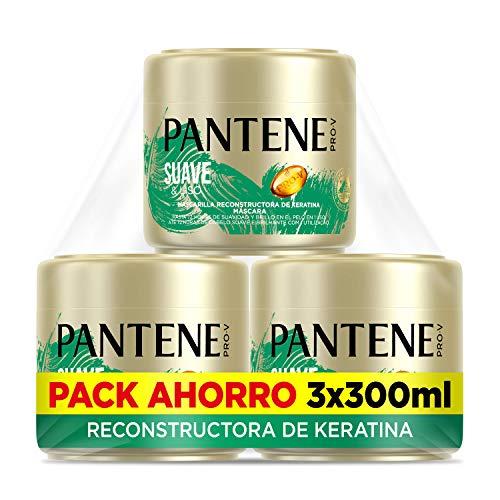 Pantene - Mascarilla Antiencrespamiento , Tratamiento Reconstructor De Keratina 3x 300ml
