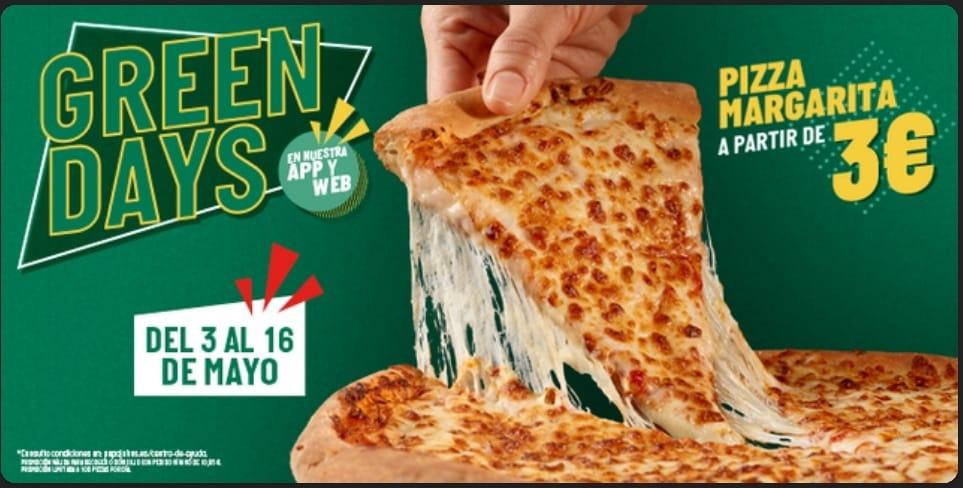 Pizza Margarita por 3€ en Papa John's BARCELONA! Recogida en local hasta 16 de mayo (SOLO APP)