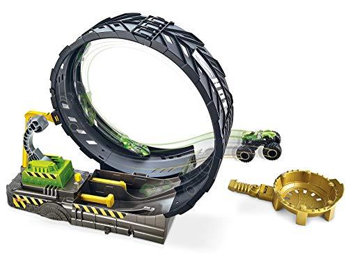 Hot Wheels Monster Trucks pista de coches de juguete con mega loop
