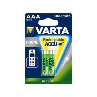 Pack de 2 Pilas Recargables AAA 800 Mah