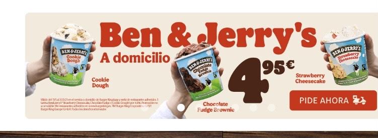 Ben&Jerry's a domicilio por 4,95
