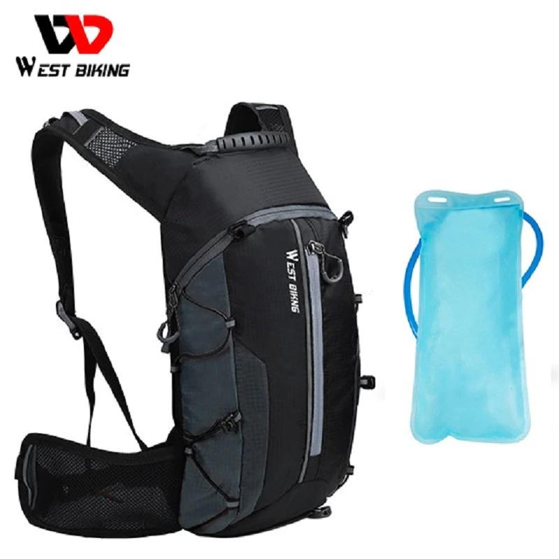 Mochila de ciclismo reflectante de 10litros con bolsa de hidratación de 2litros y funda