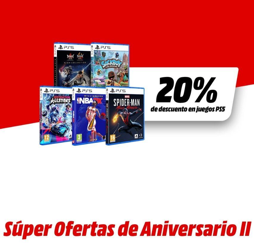 -20% de Descuento en Videojuegos de PS5
