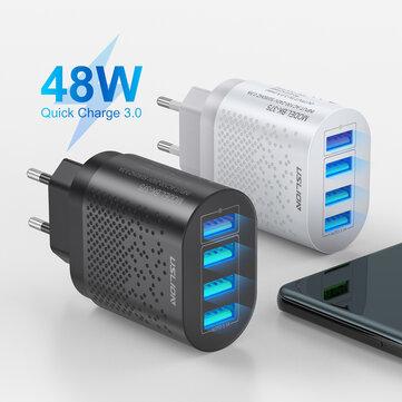 Cargador USB Cuatro USB QC3.0 USLION 48W Carga rápida