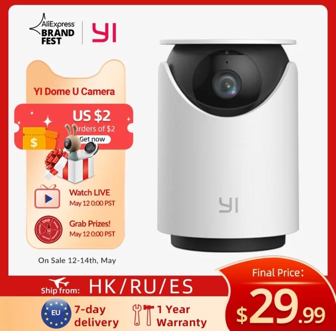 Yi Dome U 2k cámara de vigilancia
