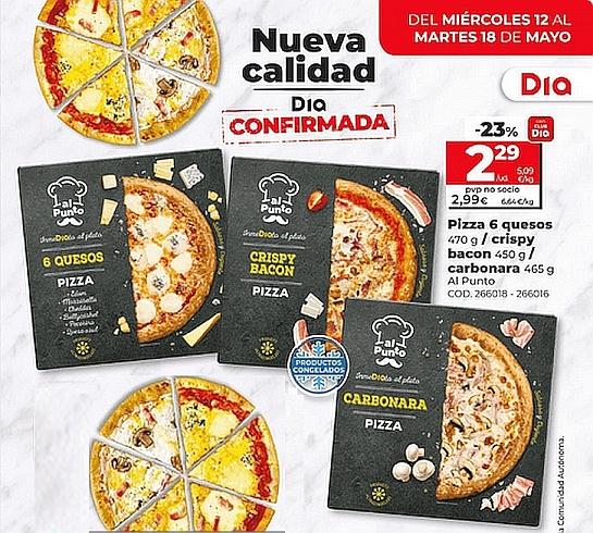 AL PUNTO pizzas Ultracongeladas 471 gr. 3 sabores