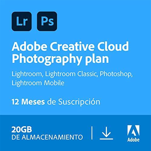 Suscripcion Adobe Lightroom y Photoshop
