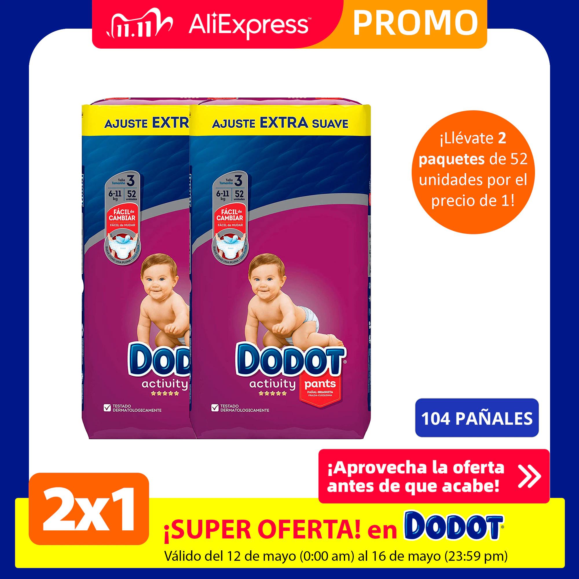2x1 en pañales y toallitas Dodot + envío gratis + cupones extra