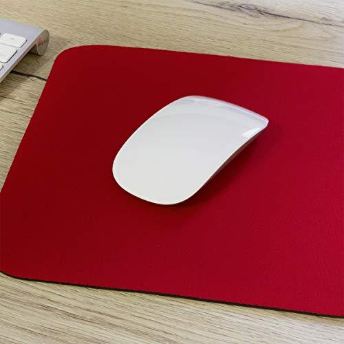 Alfombrilla para Ratón 25CM x 22CM Color Rojo
