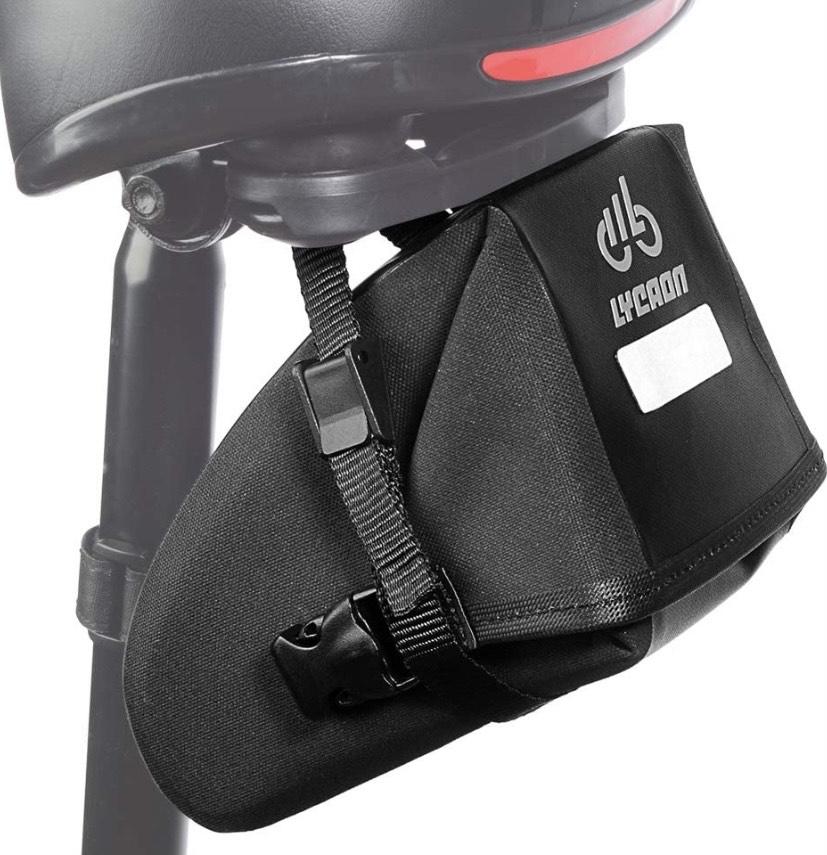 Bolsa para sillín de bicicleta con cierre de cremallera impermeable