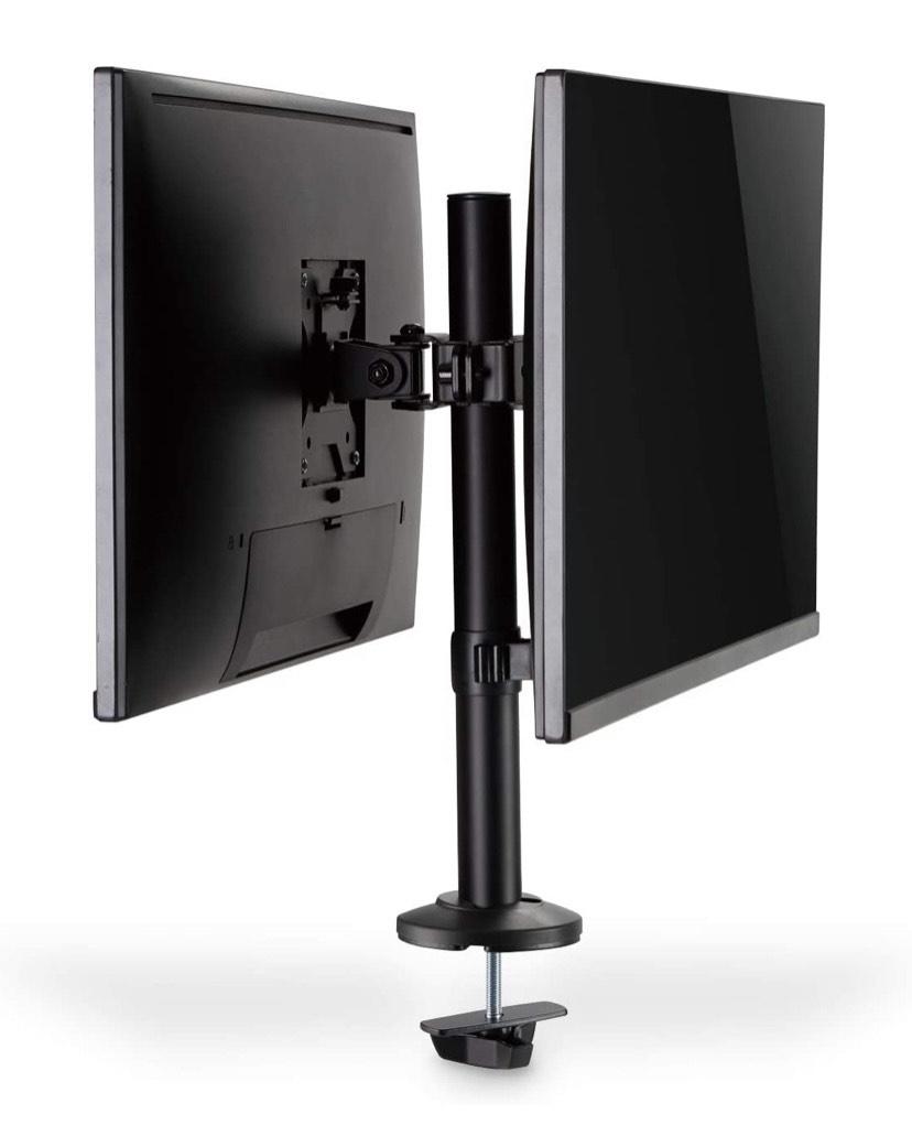 Soporte para 2 monitores - Abrazadera de escritorio - 2 Moitore - Hasta 32 pulgadas - Hasta 2X 8 kg - VESA 75x75, 100x100