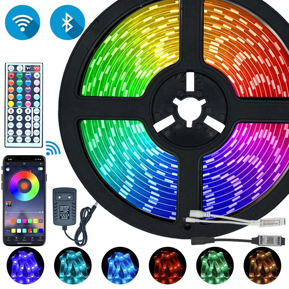 Tira de luces LED con Bluetooth y Wifi con 5m