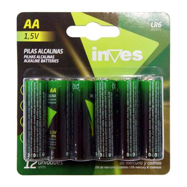 Pack de Pilas Inves LR6 AA (12 unidades)