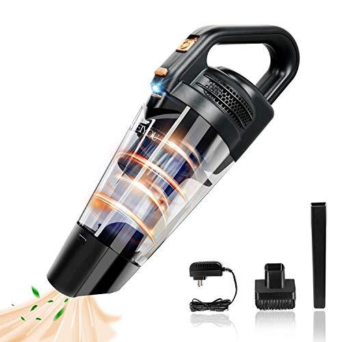 Aspirador de Mano Aspiradora-Coche sin Cable-Potente bateria-Aspiradoras
