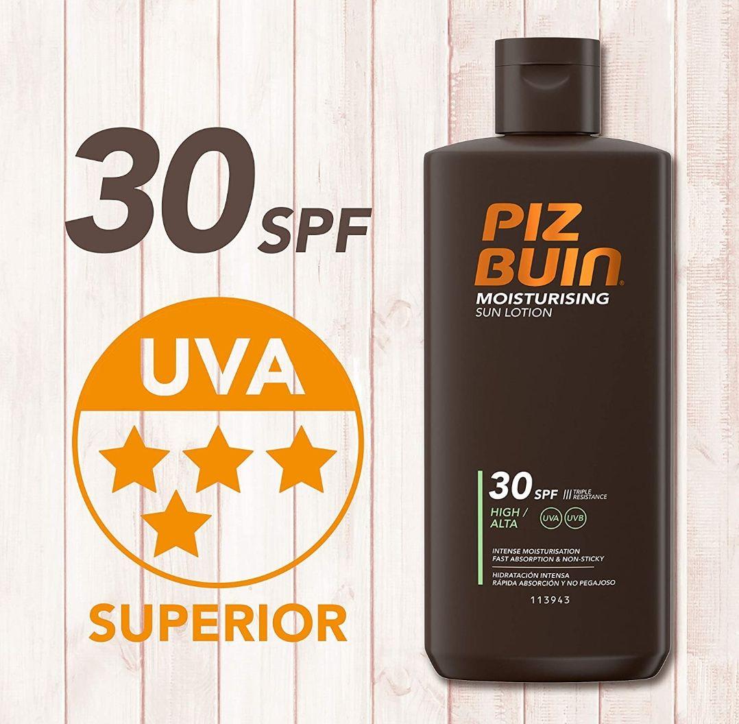 Piz Buin - Protección Solar, Moisturising Loción Solar Hidratante SFP 30. 200ml