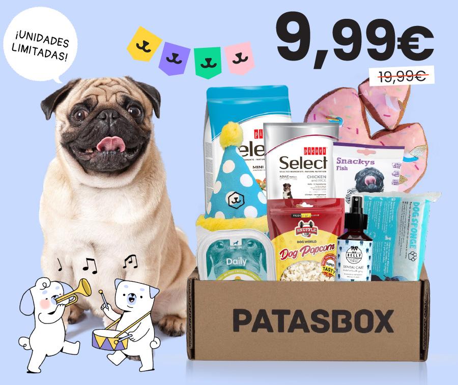 Patasbox, caja sorpresa para perros, con 50% dto. + 15.000€ en premios