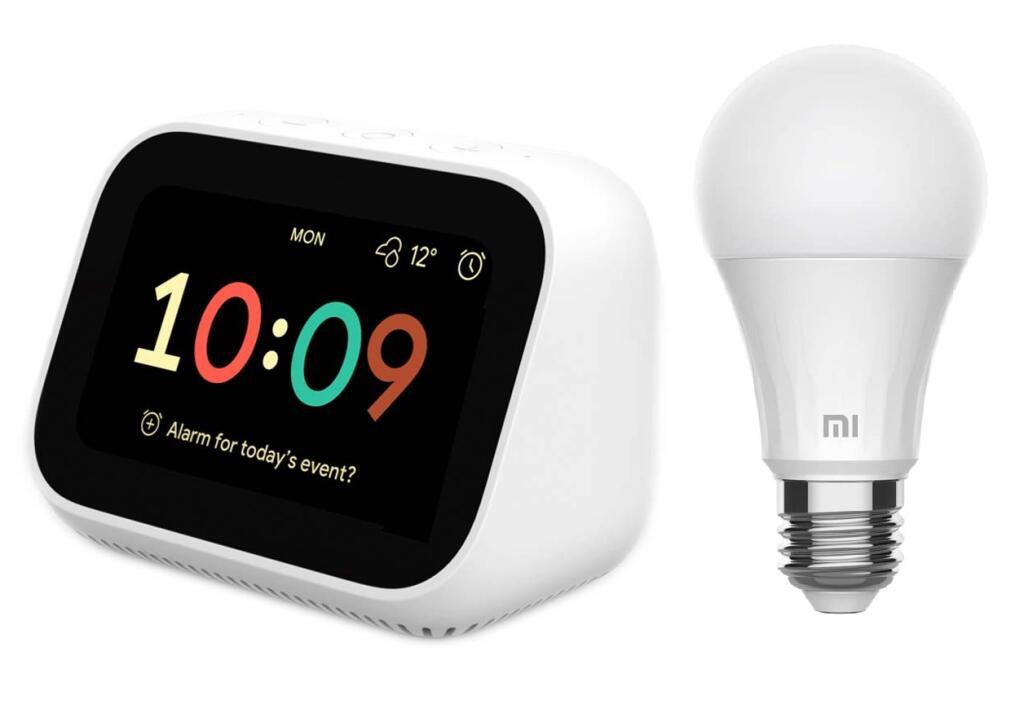 Xiaomi Mi Smart Clock X04G + Xiaomi Smart Bulb 8W