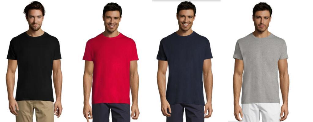 PACK de 5 Camisetas Sols Regent - TALLAS XS a 4XL (En 9 Colores)